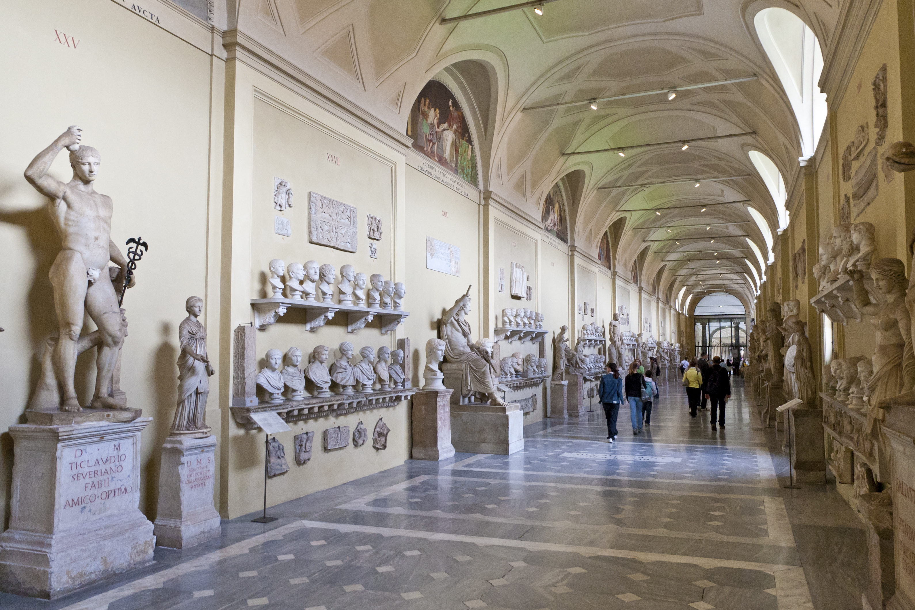 Gallery at the Vatican Museum in the Vatican City, Rome, Italy