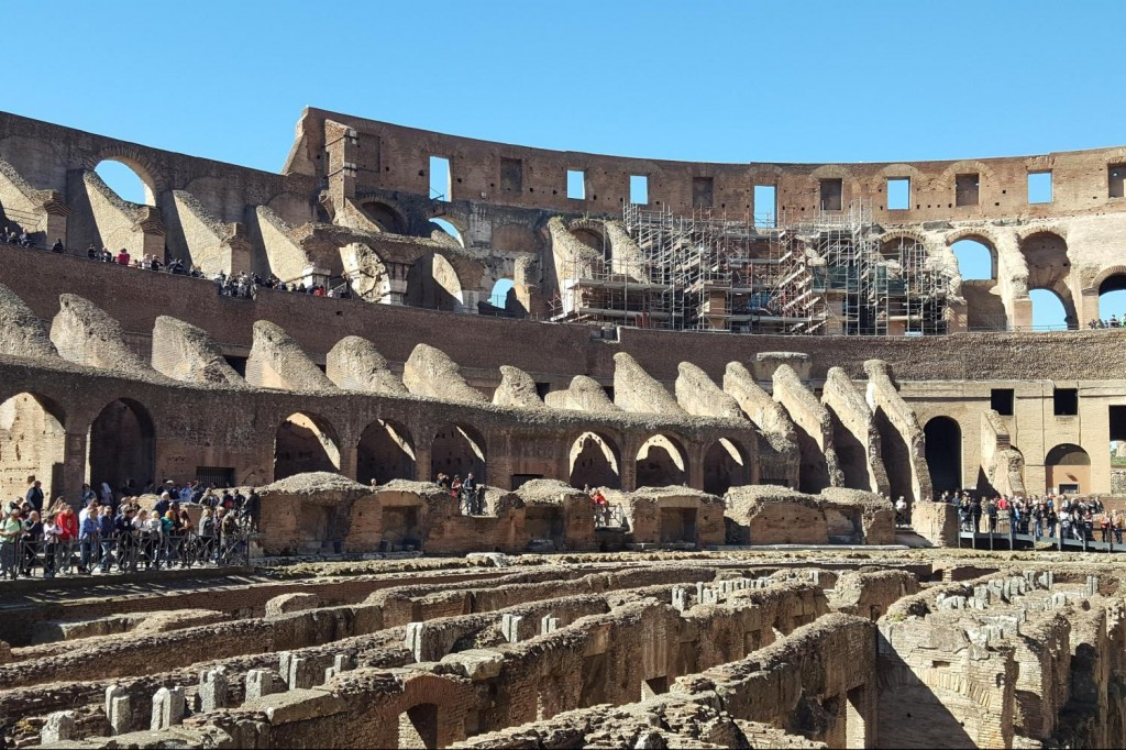view of colosseum arena and underground