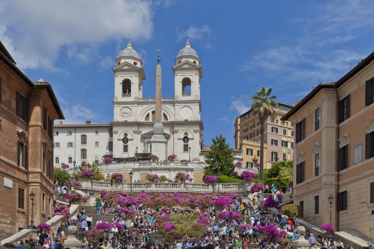 Roma, piazza d Spagna, veduta