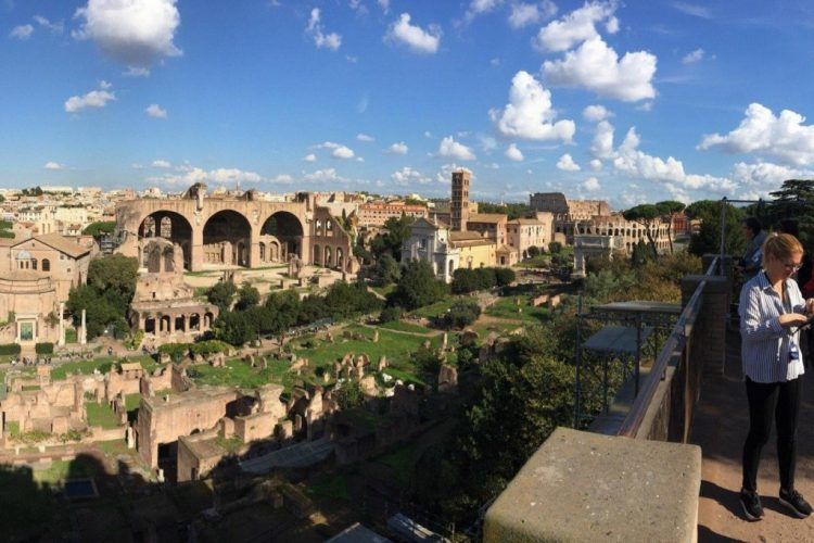 view from above of roman forum
