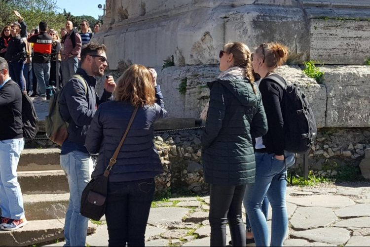people in roman forum